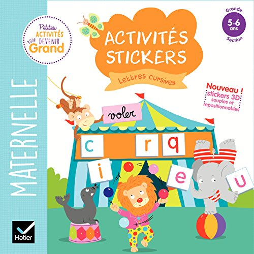 Activités stickers - Lettres cursives Grande section