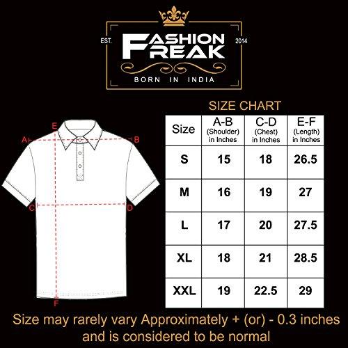 9ddd9fa59be ... Freak Full Sleeves T Shirt for Men Stylish V-Neck Cotton Grey Black  (FF009). 🔍. Men s Fashion ...