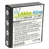 akku-king 20110741Li-Ion 3000mAh 3,7V Akku wiederaufladbar–Akkus (3000mAh,-Ionen (LiIon), 3,7V, 11,1WH, schwarz, weiß)