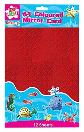 Anker-Kids Create Arts und Crafts Farbige Spiegel Karte, Kunststoff, Farbe Sortiert, A4, Blech, 12Stück