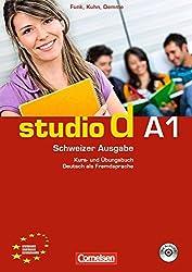 studio d Schweiz. Gesamtband 1 (Einheit 1-12). Kurs- und Übungsbuch: Europäischer Referenzrahmen: A1
