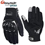 #9: Pitzo PBF_MCS17_BKXL Probiker Tribe Full Finger Riding Gloves (Black, XL)