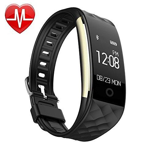 EFOSHM S2 Smart Armband Sport Fitness Tracker Herzfrequenz Sleep Qualität Monitor Call/SMS Reminder Wasserdicht IP67 Für Android iOS,schwarz