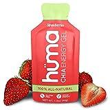 Huma Chia Energy Gel, Fraises, 12 paquets - Gel d'énergie nutrition sportive pour l'exercice d'endurance