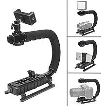 D & F portátil Estabilizador de vídeo soporte de estabilización de mano agarre para GoPro Hero 6/5/4/3+/3, Nikon, Sony, Canon DSLR Flash, Luz y Smartphone