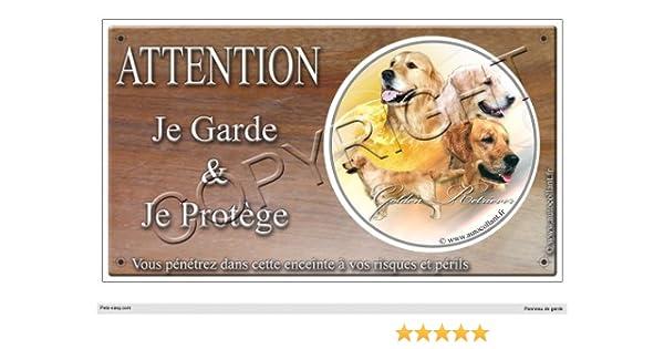 Panneau chien ou plaque Golden-Retriever 20 cm