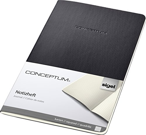 Sigel CO862 Cuaderno de notas, 13.5 x 21 cm, cuadriculado, Softcover, schwarz,...