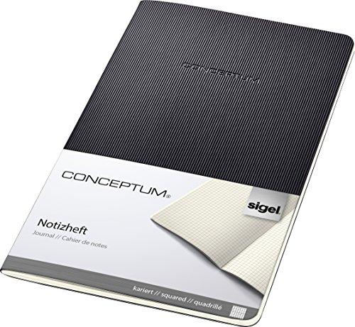 Sigel CO862 Cuaderno de notas, 13.5 x 21 cm, cuadriculado, Softcover, schwarz,...