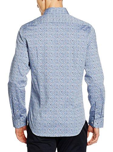 Seidensticker Herren Freizeithemd Modern Kent Blau
