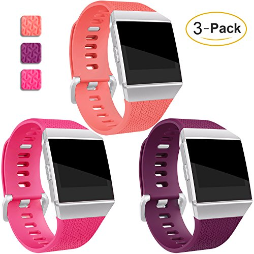 Mornex für Ionic TPU Armband, Klassische Armbänder, Unisex sportliches Ersatzband zur Fitness 3er-Pack ...