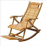 Liegestühle LHA Lazy People Stuhl Schmaler Gürtel Schaukelstuhl Bambus Schaukelstuhl Alter Mann Mittagspause Stuhl Klappstuhl Massivholz Schaukelstuhl