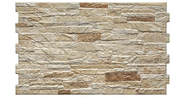 MUSTER der Wandfliese Nigella Dekor Bricks 30x50cm beige-braun