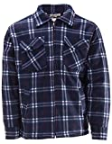 Thermojacke Arbeitsjacke Herren Holzfäller Wärmeisolierend Übergröße, Farbe:Navy, Größe:XL