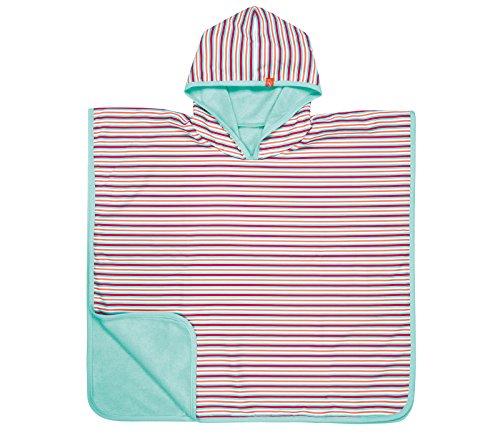 Kapuzenhandtuch Wendbar Sandabweisend Frottee Strandtuch Badetuch Kapuzenshirt UV-Schutz 50+/Beach Poncho girls, small stripes, Größe 12-36 Monate ()