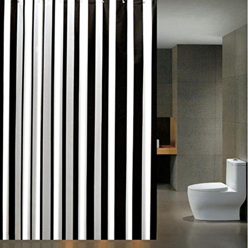 ZHZ Badezimmer Duschvorhang Tuch Hotel Bad Wasserdicht Duschvorhänge Bad Vorhänge Vorhänge Wärme Partition Vorhänge Gestreifte Vorhänge 200 W * 220 H + Ringe Duschvorhang (größe : 180×220cm) -