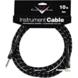 Fender Performance Series Custom Shop jack/jack coudé 3m (10 ft) black tweed - Cable audio Accessories 099-0820-036 Performance Series 10 Feet Right Angle Instrument Cable - Black Tweed