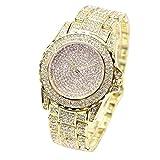 Ouneed® Uhren , Christmas Luxus Damen Uhren Strass Keramik Kristall QuarzuhrenKleid Uhr (Gold)