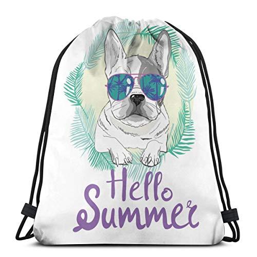 Puppy Pug, Hund, Bulldogge Cute Portable Travel Schuhbeutel Shoe Organizer Platzsparende Aufbewahrungsbeutel 14,2 x 16,9 Zoll -