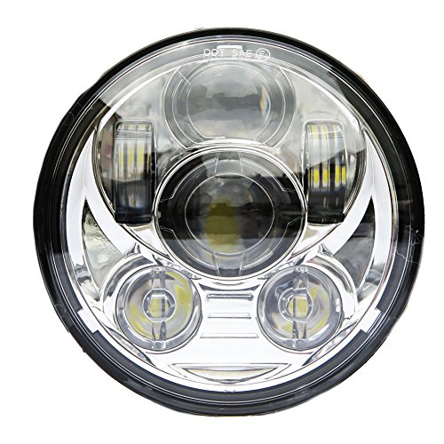 wisamic-5-3-4-575-round-led-projection-daymaker-headlight-for-harley-davidson-motorcycles-9-pcs-bulb