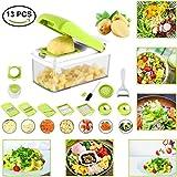 Cortador de verduras para picar verduras, 7 cuchillas de acero inoxidable para cocinar
