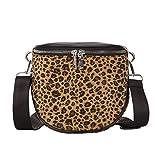 LMRYJQ Sommersaison Quaste Weibliche Tasche Mode Frauen Leopard Plüsch Mini Square Handtasche Schulter Crossbody Bag Messenger Tasche