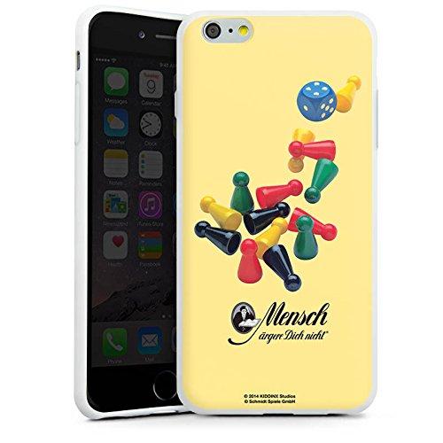 Apple iPhone X Silikon Hülle Case Schutzhülle Mensch ärger Dich nicht Spielfiguren Würfel Silikon Case weiß