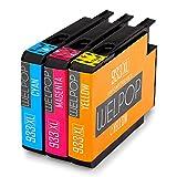 WELPOP Ersatz für HP 932XL 933XL Druckerpatronen, 1 Gelb/ 1 Blau/ 1 Rot, Hoher Reichweite Kompatibel mit HP Officejet 6700 Premium 6600 7612 7110 6100 7610