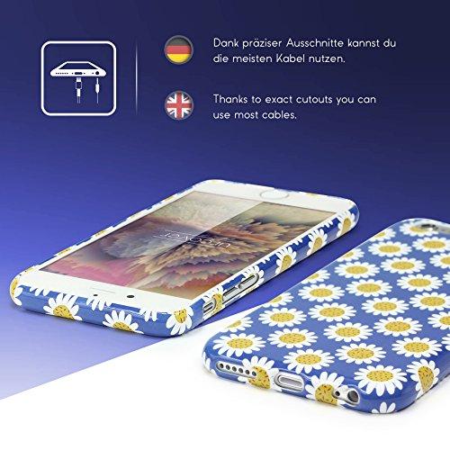 iPhone 6 Plus / 6s Plus Coque, Urcover TPU Silicone Housse Apple iPhone 6 Plus / 6s Plus Protection Étui Fleurs Motif Design 5 Téléphone Femme Smartphone Case Design 4
