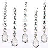 colormax 5teilig Diamond Kristall Girlande, zum Aufhängen Hochzeit Strand, mit 6Perlen und Prism Anhänger Accent Made mit Magnificent Kristall