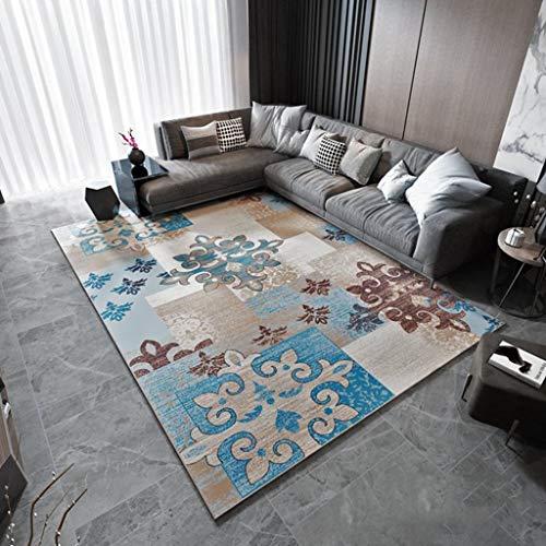 Max tappeti antiscivolo rettangolari moderni per soggiorno camera da letto comodino lavabile geometrica moquette 6mm home (colore : #1, dimensioni : 120x160cm)