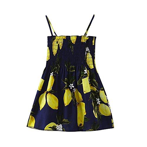 Diath Kinderbekleidung Kinder MäDchen Kleid, MäDchen Kleid Prinzessin Dress Drucke TräGerlosen Festzug Prinzessin Tutu ()