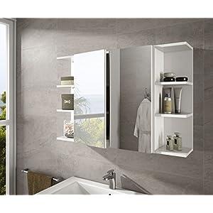 Hogar Decora Armario con Espejo Camerino 2 Puertas + estantes 100cm