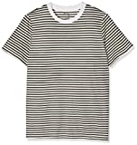 SELECTED FEMME Damen T-Shirt Sfmy Perfect SS Tee-Box Cut-STRI. Noos, Mehrfarbig (Grape Leaf Stripes:Bright White), 36 (Herstellergröße:S)