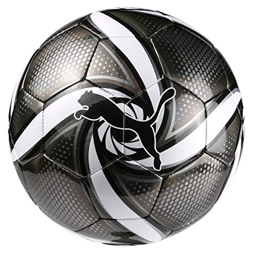 PUMA Future Flare Ball Fußball Black White-Silver, 3