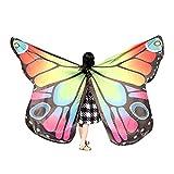 Xmiral Niñas Chal de Alas de Mariposa Impermeable para Baile Danza Chicas Duendecillo para Disfraz Fiesta Carnaval(235 * 170cm,Rosa)