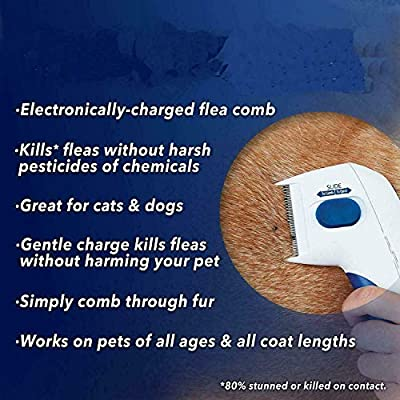 LIKE Flea Doctor Electronic Flea Comb As Seen On TV Perfect for Dogs & Cats, Kills & Stuns Fleas from LIKE