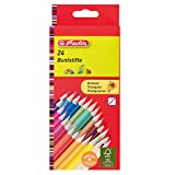 Herlitz 10412039 Pack de 24 Crayons de couleur triangulaires