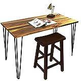 Signstek- Lote de 4 patas de mesa, metal, diseño vintage en forma de horquilla, para mesas de café, escritorios modernos, mesillas de noche, sillas, etc.