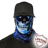 SA Fishing Face Shields ** 40+ Designs verfügbar ** Qualitäts Bandana / Multifunktionstuch / Schlauchtuch / Halstuch aus Stoff & SPF 40 - Face Masks von SA Company, Stealthtech Camo | Hydro Skull
