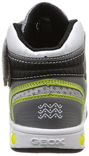 Geox  J Gregg A,  Sneaker bambino Grigio (Gris (Grey/Lime))