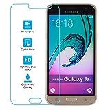 Verre Trempé Galaxy J3 (2016), 11:11 Accessories, Film Protection en Verre Trempé écran Protecteur Vitre [ANTI RAYURES] [SANS BULLES D'AIR] Ultra Résistant Dureté 9H Glass Screen Protector Tactile avec 2.5d Bords Lisses pour Samsung Galaxy J3 (2016)