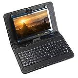 7 Zoll IPS Touchscreen kapazitiver 1024x600 HDMI Display Game Monitor für Raspberry Pi 4 mit Tastatur, Halter Ledertasche