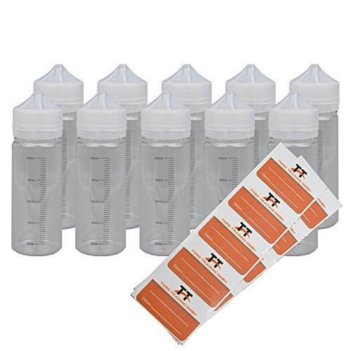 120-ml-flasche (Skala Liquidflaschen 10 x 120ml aus PET inkl. 10 Etiketten - Leerflasche - Liquid Flasche für E-Liquid - Tropfflaschen,Dosierflaschen,Quetschflaschen,Unicorn Bottle (120 ml))