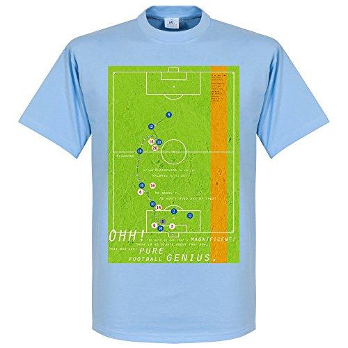 Pennarello diego maradona goal 1986-maglietta, colore: azzurro cielo, unisex adulto, azzurro, xxl