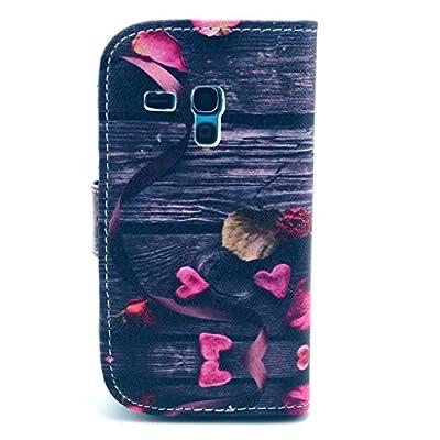 Nodelec® Samsung Galaxy S3 Mini I8190 Hülle Tasche Wallet Case Flip Cover Hüllen Schutzhülle Etui Ledertasche Lederhülle Premium mit Standfunktion für Samsung Galaxy S3 Mini I8190 von Nodelec auf Lampenhans.de