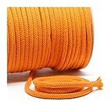 Baumwollkordel 6 mm, orange, 1m, 100% Baumwolle
