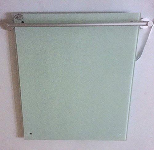 Télécommande Chauffage infrarouge en verre avec porte-serviette Blanc 450 W 100 x 60 cm avec montage mural 98% la chaleur Efficacité 100.000std Durée de vie garantie 5 ans