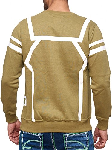 Rusty Neal Sweatshirt Mix Herren Sweat Hoody Kapuze Reißverschluss 19045 Olive