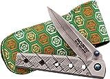 Mcusta - Couteau Pliant Japonais Mcusta - Lame et Manche en Acier Damas