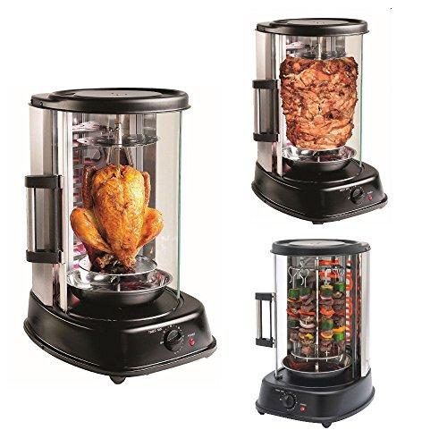 M-line by enrico master grill forno verticale girarrosto spiedino cucina 1500 w